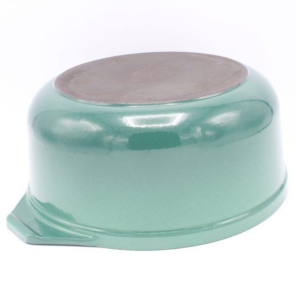 Gietijzeren braadpan stoofpan aquagroen teal 24 cm vintage Gaer Cookware