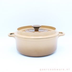 Invicta gietijzeren braadpan beige bruin 22 cm cast iron dutch oven