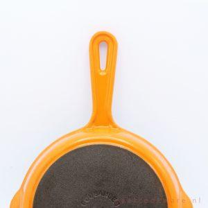 Cousances gietijzeren koekenpan oranje cast iron skillet