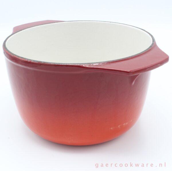 Nomar gietijzeren fonduepan rood cast iron fondue red