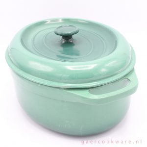 gietijzeren braadpan aquagroen cast iron dutch oven teal 29 cm