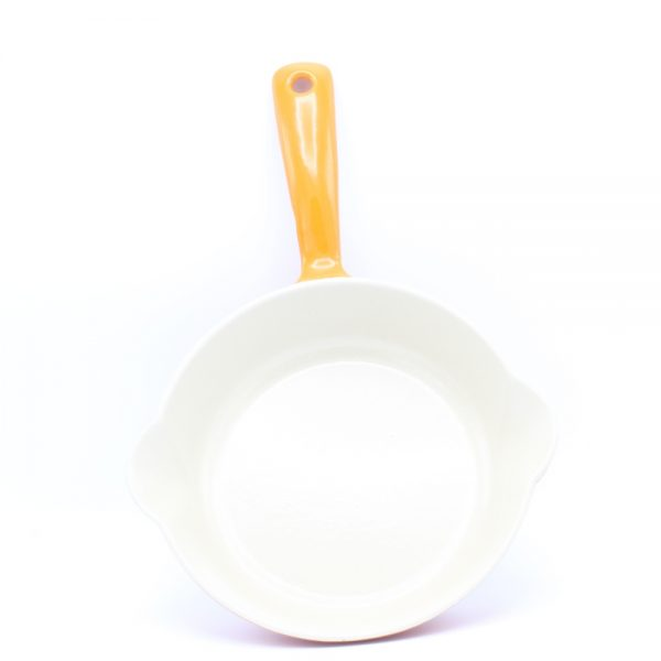gietijzeren koekenpan oranje 18 cm cast iron skillet orange Cuisine Royale