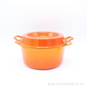 Cousances gietijzeren braadpan Doufeu oranje rood 20 cm cast iron dutch oven orange red