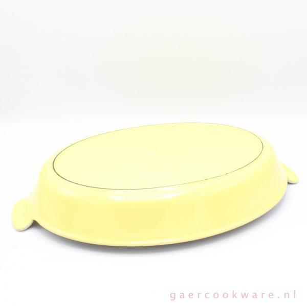 le creuset gietijzeren ovenschaal geel cast iron gratin dish yellow