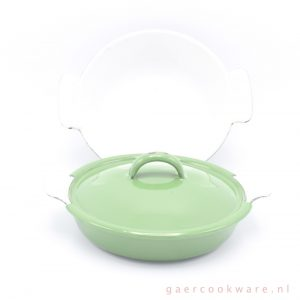 DRU gietijzeren schalen groen cast iron dishes green