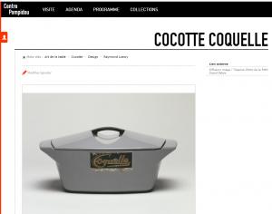 Centre Pompidou Paris Cocotte Coquelle Raymond Loewy cast iron design pan dutch oven casserole gietijzeren pan Le Creuset